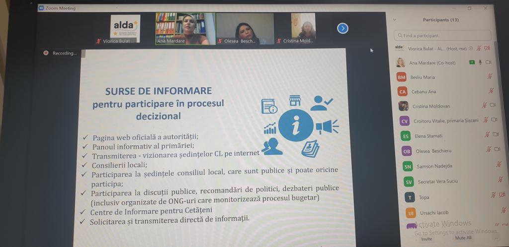 A doua sesiune a Instruirii online în Raionul Nisporeni