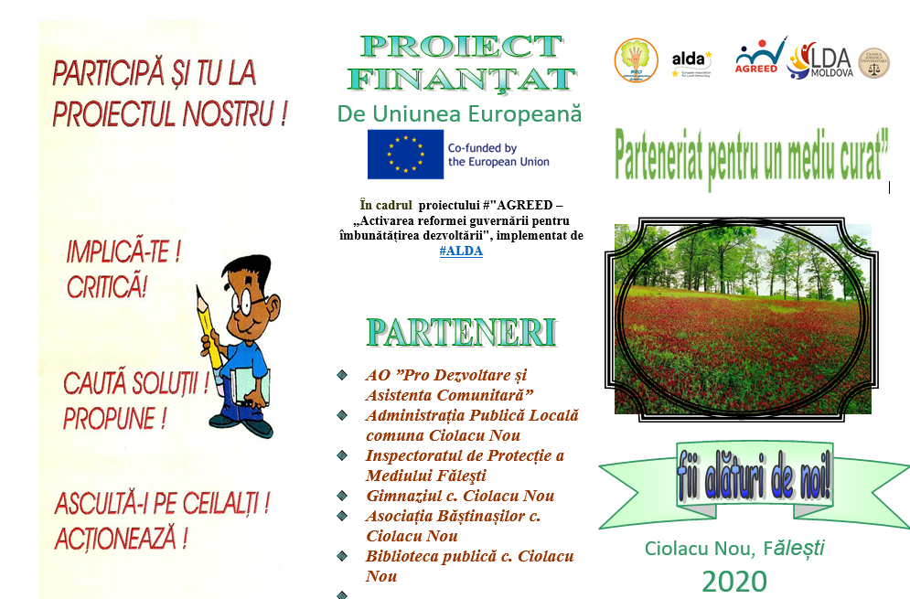Project monitoring – PARTNERSHIP FOR A CLEAN ENVIRONMENT, Glodeni district