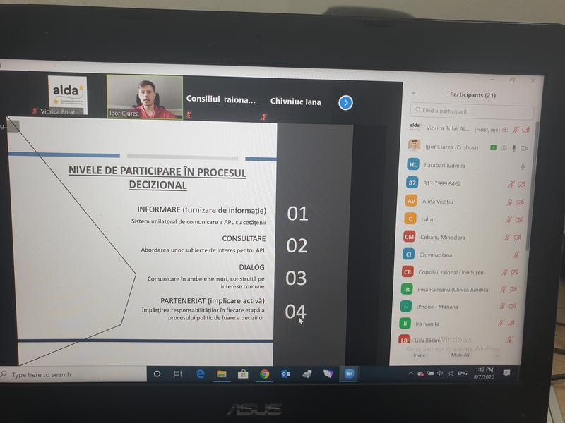 Вторая Сессия Тренинга Онлайн в Район Дондюшаны