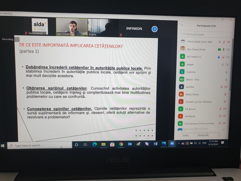 Онлайн Тренинг в Рамках Программы AGREED, Бричанский район
