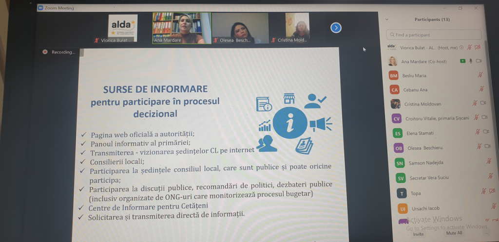 The second online Training Session in Nisporeni District
